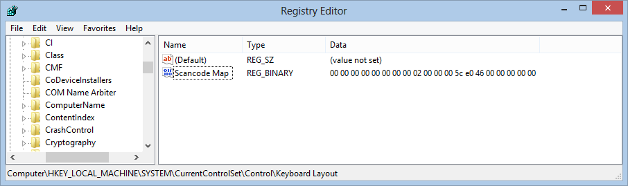 Regedit on Windows 8 - Essentially unchanged